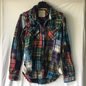 Free People We The Free Flannel Patchwork